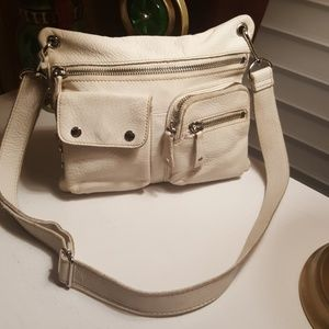 White Fossil Cross Body Bag ❤ offers welcome